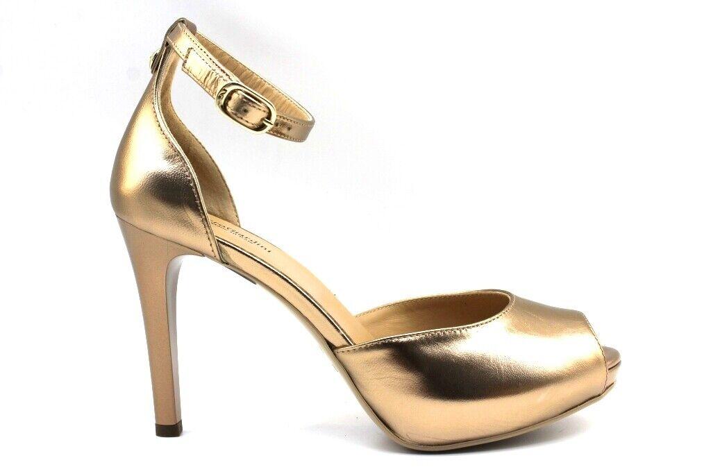 black giardini p907863de gold elegant sandals footwear high heel