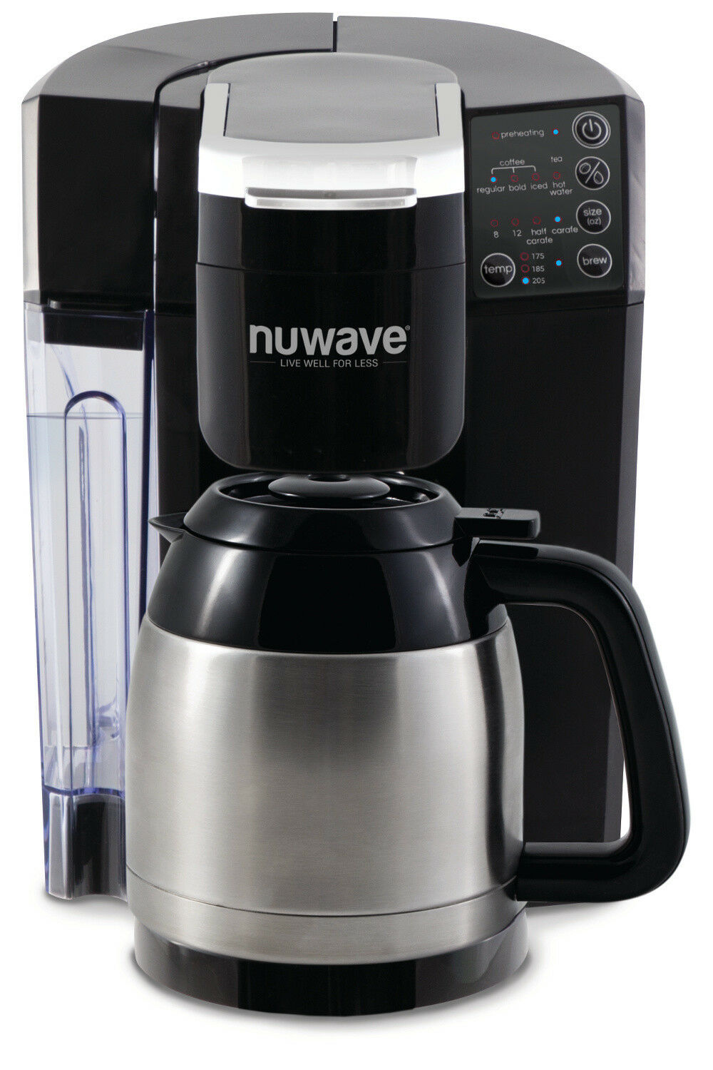 BruHub 3 in 1 Coffee Maker with Stainless Steel Carafe.