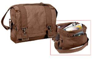 f0dce9c21b Rothco 9134 Vintage Style Canvas B-15 Pilot Messenger Bag- Brown