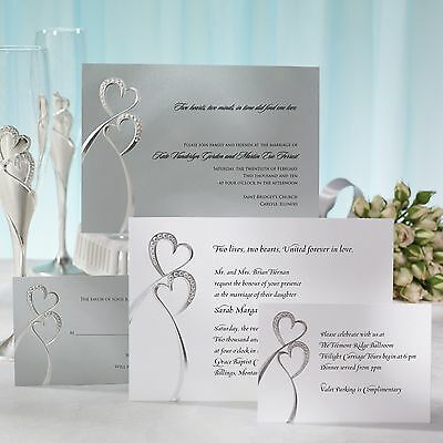 silver sparkle wedding invitations collection on ebay