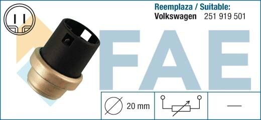 33610 temperature sensor VW GOLF JETTA PASSAT POLO 251919501