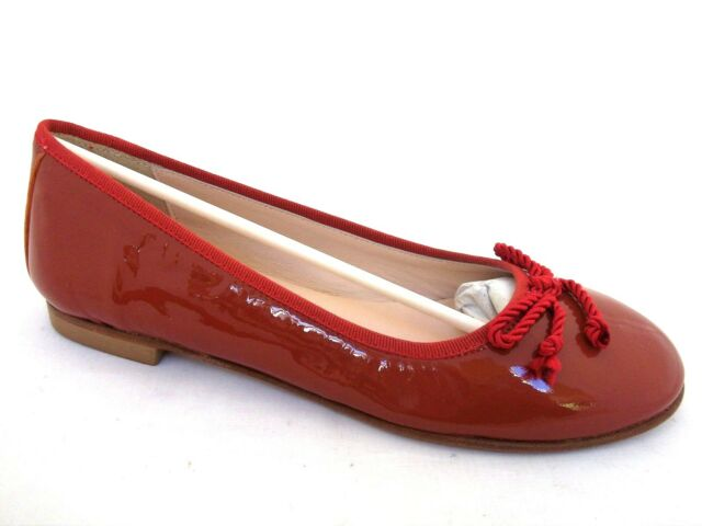 RIO ORANGE PATENT LEATHER PUMPS-BALLERINAS FLATS CASUAL SHOES UK 3 - EUR 36
