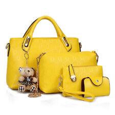 3ca81eab7da 4PCS Set Women Lady Leather Shoulder Bag Handbag Satchel Clutch Coin Purse  Lot