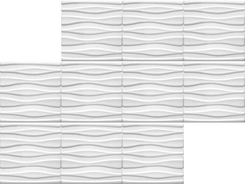 1 mètres carrés de plaques 3d Polystyrène mur plafond muraux panneaux 50x50cm Tube