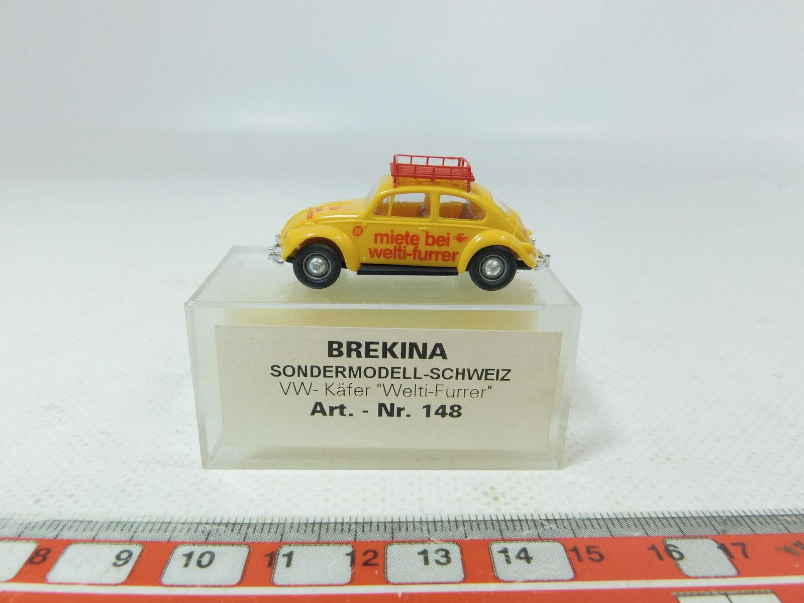 AZ428-0,5   Brekina H0 (1 (1 (1 87) 148 Modelo Especial VW Escarabajo Welti Furrer fa71d3