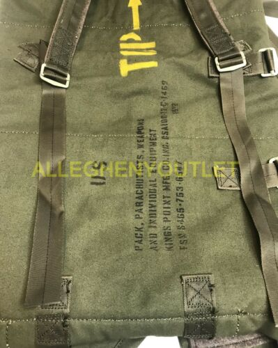 US Military 1968 Vietnam Era Parachutists Individual Equipment Pack OD Green NEW