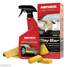 Mothers California Gold Clay Bar Kit 07240 Car Wax Polish Auto Wash Detailing