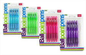 Ball Point Pens Blue Ink Pack of 5 in Blue- Pink- Purple or Green OyU9fae8-08054944-308909416