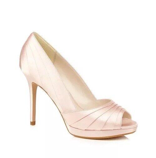 Jenny Packham Nº 1 rosadodo claro 'PANDORA' 'PANDORA' 'PANDORA' PEEP TOE STILETTO-Talla 6-Nuevo Y En Caja  ahorra 50% -75% de descuento