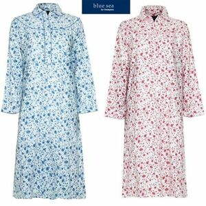 New Ladies Brushed Cotton Warm Wyncette Nightdress.