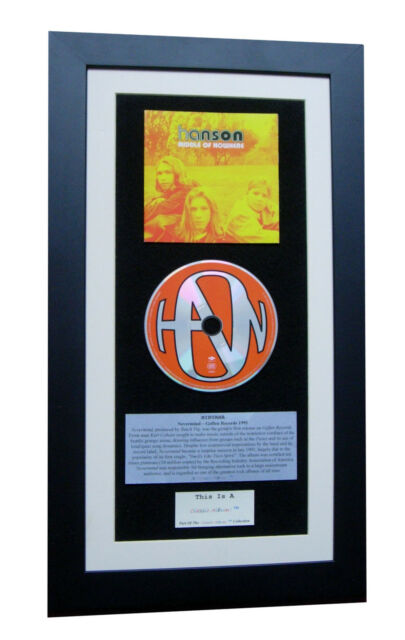 HANSON Middle Of Nowhere CLASSIC CD GALLERY QUALITY FRAMED+EXPRESS GLOBAL SHIP