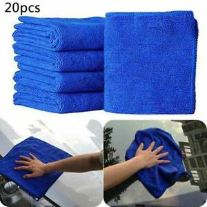 20pcs-Large-Blue-Microfibre-Cleaning-Auto-Car-Detailing-Soft-Cloths-Wash-Towel