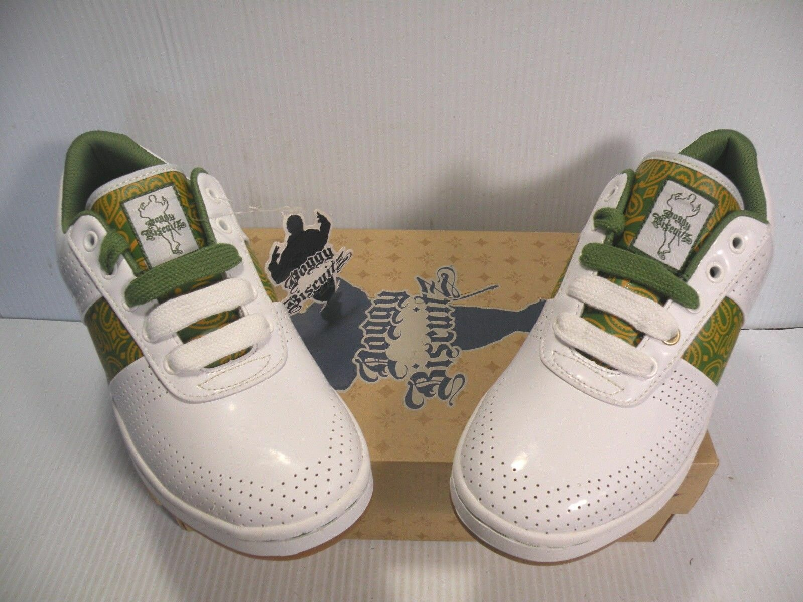 PONY SNOOP DOGG DOGGY BISCUITZ SIZE SNEAKERS WOMEN Schuhe Weiß SIZE BISCUITZ 7 NEW 809b6c