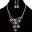Fashion-Elegant-Women-Rhinestone-Crystal-Choker-Bib-Statement-Pendant-Necklace thumbnail 6