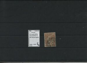 Ancienne-Allemagne-Saxe-1863-Mi-12aa-Verifie-Anges-Bords-Timbres-N2-Leipzig