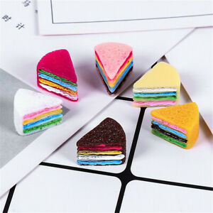 15x13x10mm-Resin-Cake-Cabochons-Triangle-Shaped-Many-Colours-12-pcs-Craft-Decor