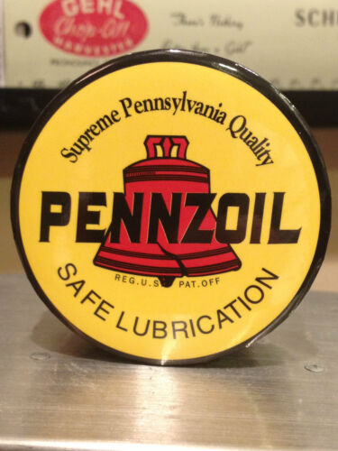 set of 3 OWLS PENNZOIL MOTOR OIL magnets ROUND AND OVAL LOGOS