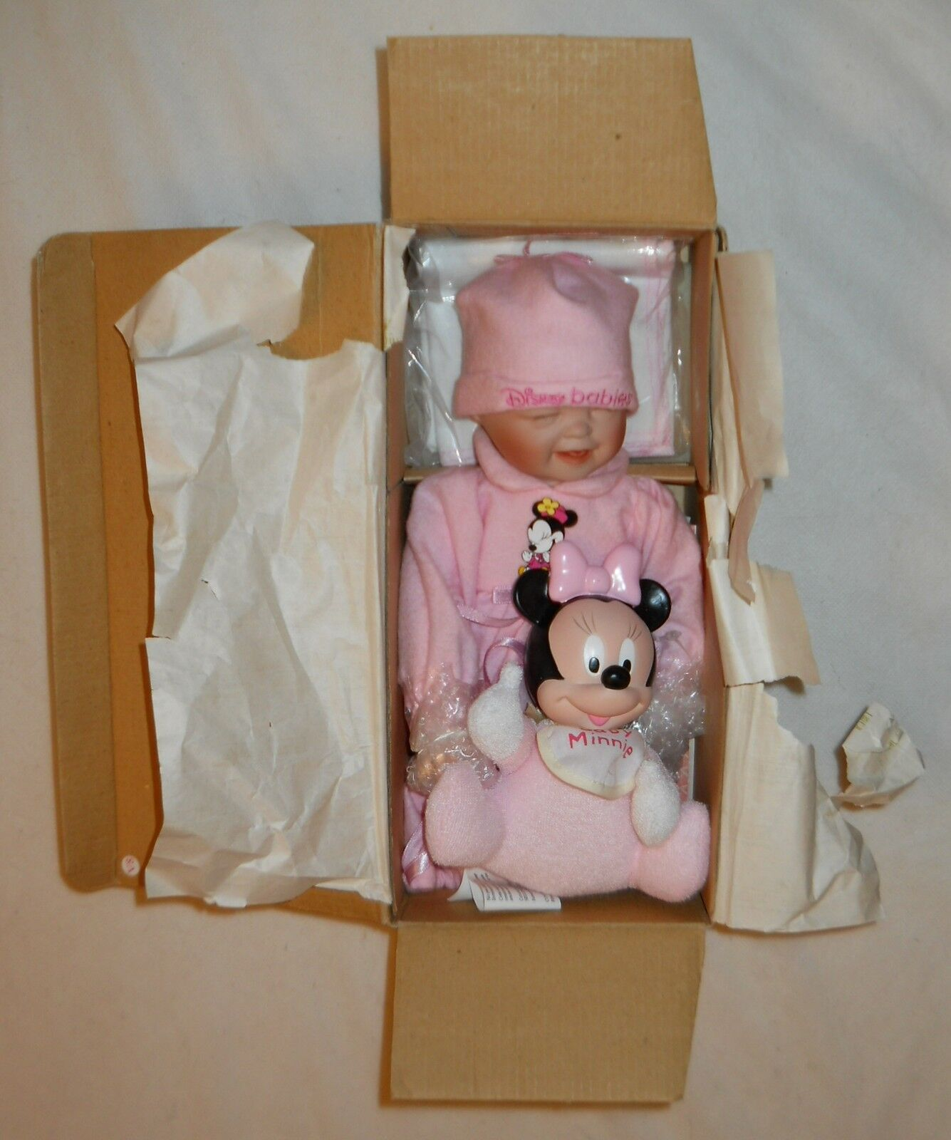 Ashton-Drake  Baby Minnie  bebé niña rosadodo con Baby Minnie, 5783FA, Nuevo En Caja