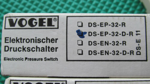 New in the Box Vogel Digital Prssure Switch Sensor DS-EP-32-D-R Free Shipping