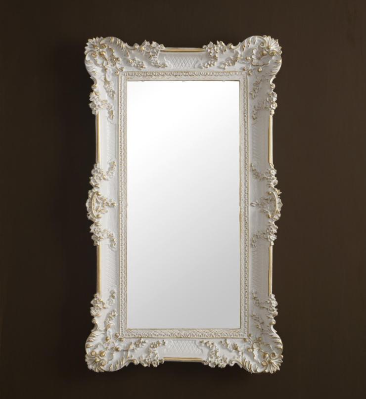 Espejo de parouge antigua Barroco rectangular 97x57 pasillo blanc or reg3074