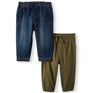 NEW-Garanimals-Baby-Canvas-Jogger-Pants-Olive-Size-5-T