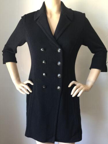 New St John Knit Sz 4 Long Black Santana Jacket by St John Knit