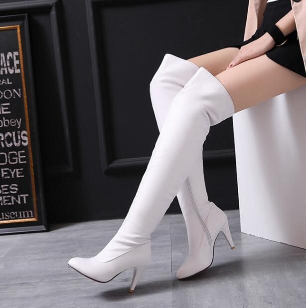 Womens Over knee Boots High Stilettos Heels Dress Clubwear US12 shoes Plus Size