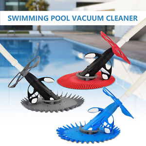 Automatic-Suction-Side-Climb-Wall-Swimming-Pool-Vacuum-Cleaner-30ft-Hose-Set