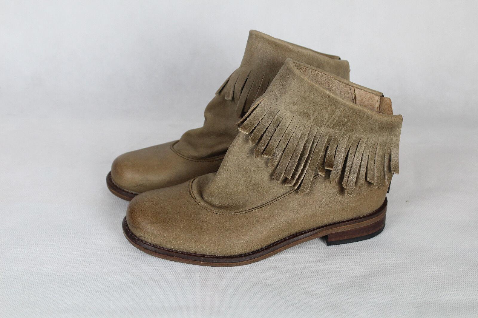 Nobrand Schuhe guter Stiefeletten mit Fransen,Damen Gr.38,sehr guter Schuhe Zustand,NP d7082e
