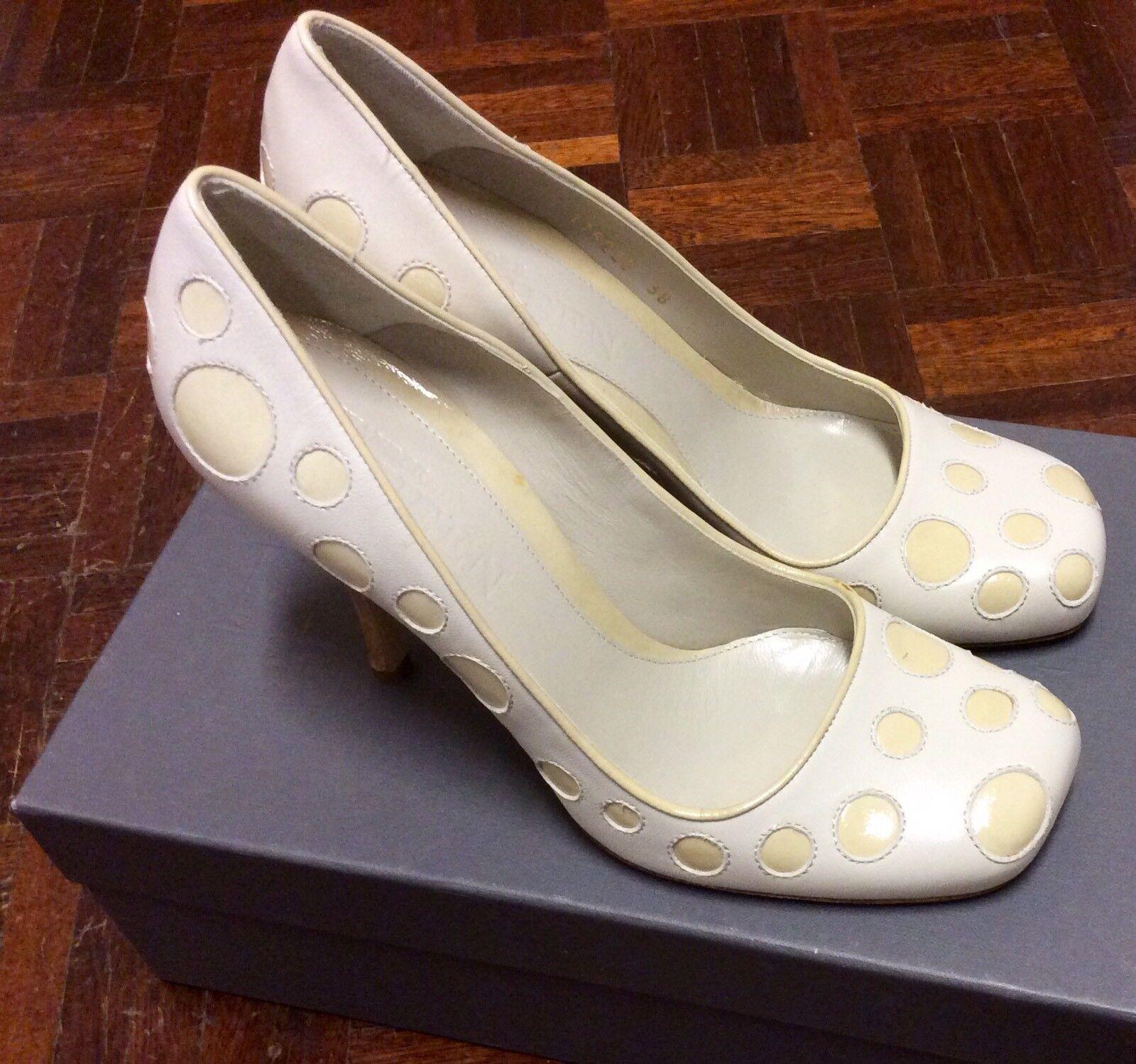 Brand New In Box UK Alexander McQueen Cream High Heels UK Box 5 9cf700