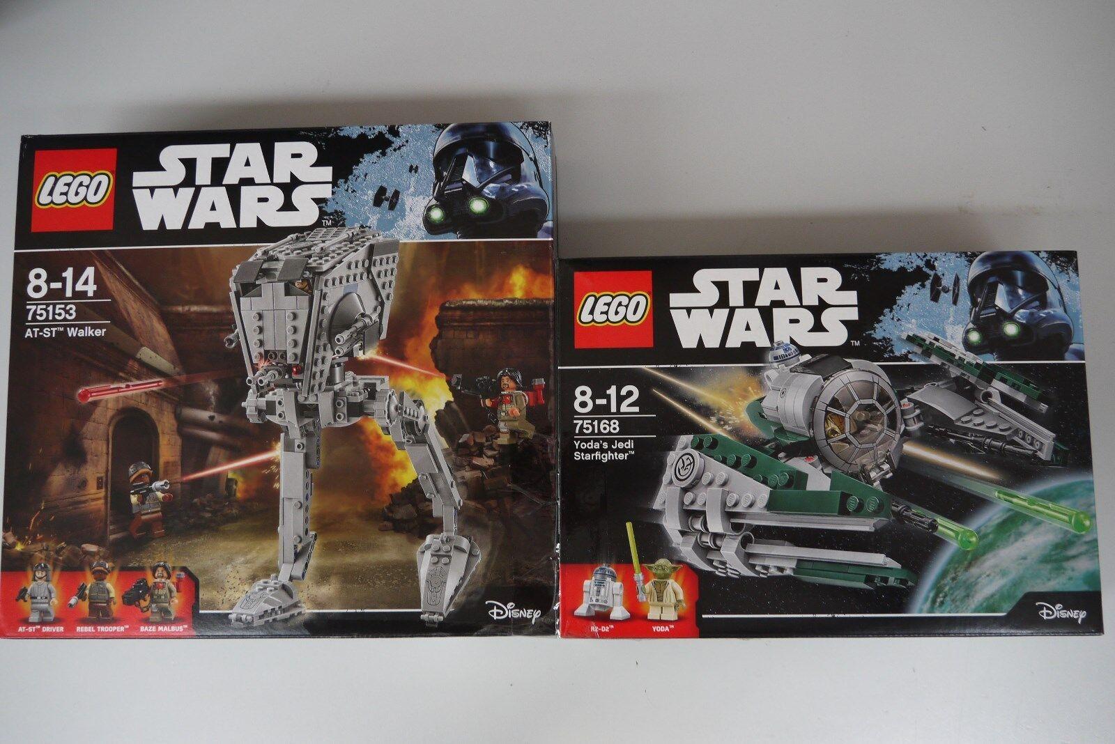 LEGO® Doppelpack Star Wars 75153 AT-ST Walker & 75168 Yodas Starfighter