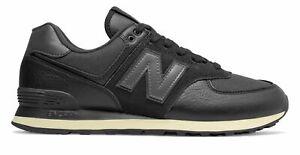 new balance men's 574 shoes black size 8 2e  ebay