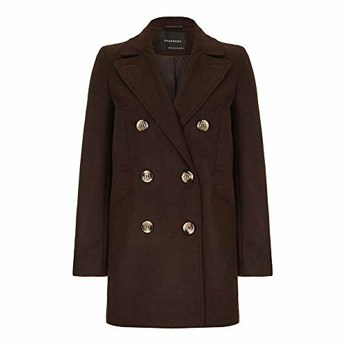 Anastasia Women's Wool Winter Pea Coat
