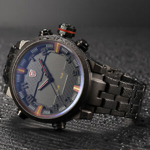 SHARK-Brand-Male-LED-3D-Dual-Time-Date-Alarm-Quartz-Steel-Case-Sport-Wrist-Watch