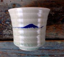 FUJI JAPANESE RESTAURANT CELADON CERAMIC POTTERY TEA CUP