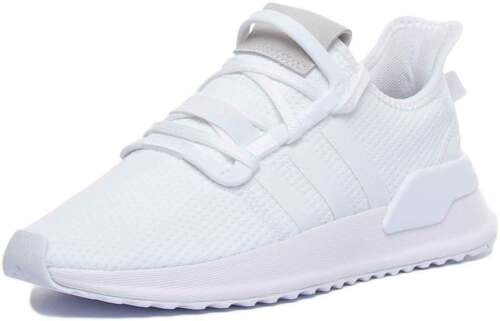 Adidas U/_Path Run J Youth Mesh Trainers In White White Size UK 3-7