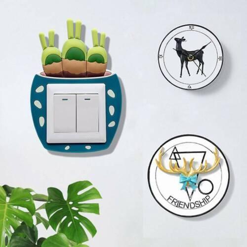 New Cartoon Light Switch Surround Sticker Cover Vinyl Kids Bedroom Home Decor Z