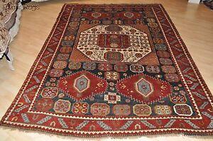 Antique-Caucasian-Karachopt-Kazak-rug-Southwest-Caucasian-6-039-x9-039-over-size-19th