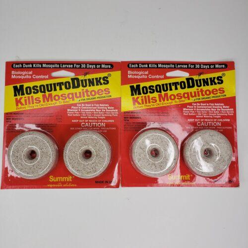 Summit Mosquito Dunks NEW Lot of 2 Packs Pest Control Bird Animal Organic Safe