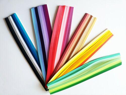 Qualité 3 mm Quilling Paper 2200 bandes 44 Couleurs Rouge Violet Jaune Rose Vert