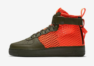 nike sf air force 1 mid black cargo khaki nz