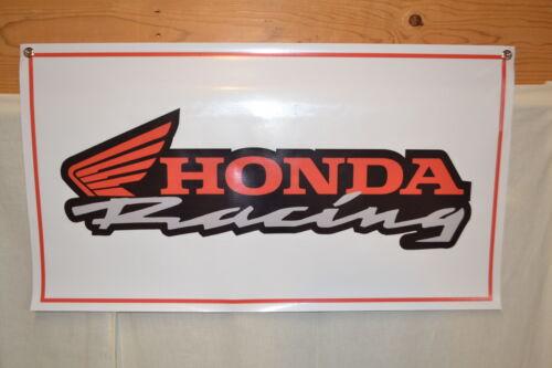 HONDA RACING SIGN BANNER Mechanic Shop Garage Cycle Motorcross LOGO AD
