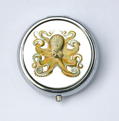 Octopus PILL CASE pillbox STEAMPUNK gothic nautical psychobilly
