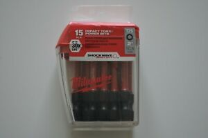 Milwaukee-48-32-5015-SHOCKWAVE-T25-2-034-Impact-Torx-Power-Bits-15-pack