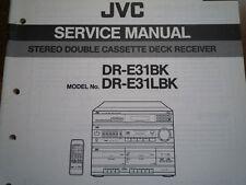JVC DR-E31BK DR-E31LBK Radio Cassette Receiver Service manual wiring diagram