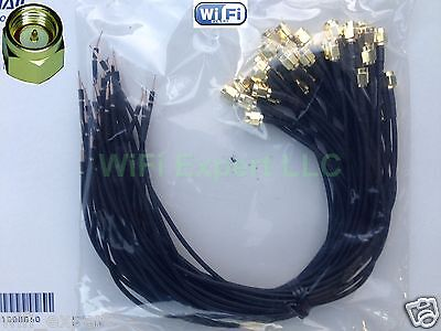 50x 14 in RG174 SMA MALE to SOLDER Bare Cable Pigtail Coaxial RF Ships same day