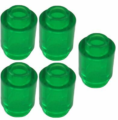 Parts /& Pieces 5 x Lego Transparent green Round brick 1x1-6238046