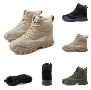 523f002b4dc Chic Mens Military Army Combat Leather Tactical Ankle Boots Desert ...
