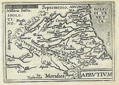 Cartina Abruzzo Umbria.Abruzzo 1598 Ortelius Galle Stampa Mappa Originale Antica Pescara L Aquila Ebay