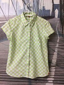 Details zu ESPRIT * Bluse * Grün Weiß Kariert * Kurzarm * Baumwolle * Top Zustand * XL 42